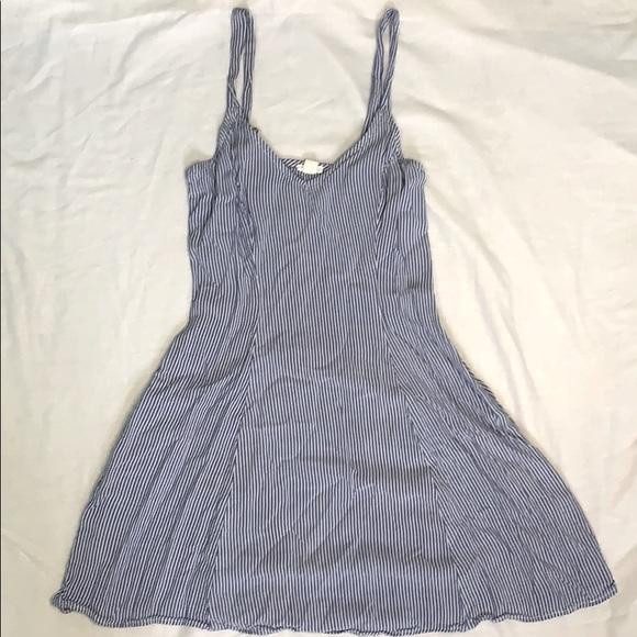 Garage stripped blue summer dress